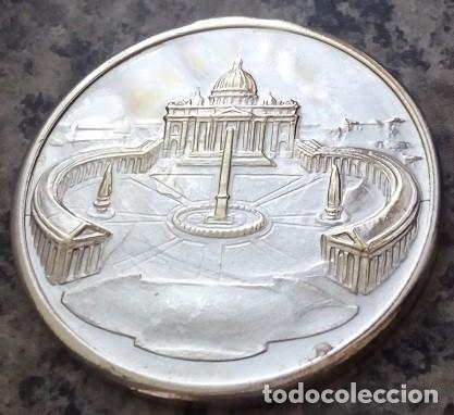 Medallas temáticas: BONITA MONEDA PLATA DEL PAPA JUAN PABLO II PONTIFICE MAXIMUS DEL VATICANO FIRMADA POR AUTOR - Foto 2 - 105651423