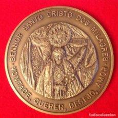Medallas temáticas: MEDALLA DE BRONCE PORTUGUESA DE 8 CMS. DEL SEÑOR SANTO CRISTO DE LOS MILAGROS, NUMERADA EN CANTO 70. Lote 105814355