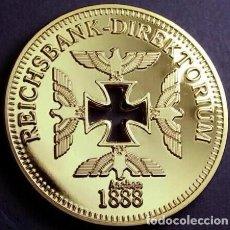Medallas temáticas: BONITA MONEDA ORO 24K ALEMANIA REICHSBANK DIREKTORIUM 1888 EN SU CAPSULA PROTECTORA. Lote 106170239