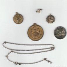 Medallas temáticas: LOTE DE 4 MEDALLAS MAS CADENA. Lote 106581947