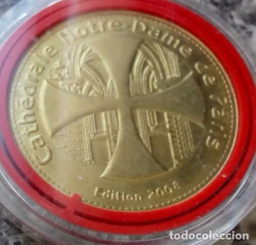Medallas temáticas: CURIOSA MONEDA MEDALLA CONMEMORATIVA DE LA CATEDRAL DE NOTRE DAME EN PARIS - Foto 2 - 106620631