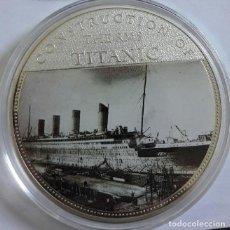 Medallas temáticas: GRAN MONEDA DE 70 MM CONMEMORATIVA A LOS 100 AÑOS DEL HUNDIMIENTO DEL TITANIC EDICION MUY LIMITADA. Lote 121813232