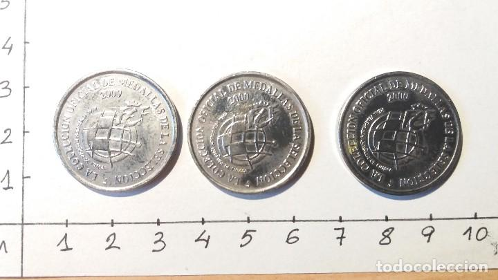 MONEDAS SELECCIÓN DE FÚTBOL AÑO 2000 (Numismática - Medallería - Temática)