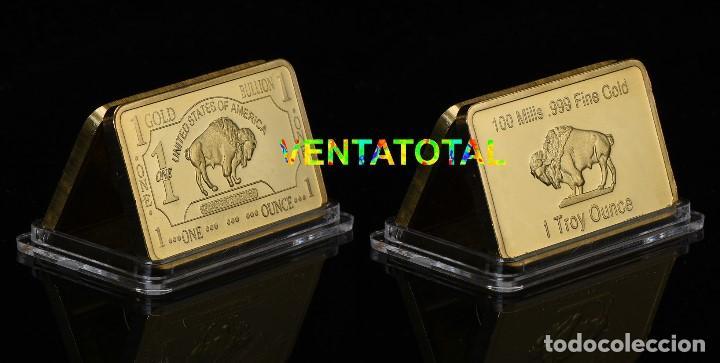 LINGOTE DE CASI 1 ONZA ORO DE 24 KILATES 35,10 GRAMOS ( BUFALO NORTE AMERICANO ) Nº9 (Numismatik - Medaillen - Thematische)