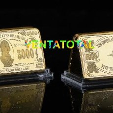 Medallas temáticas: LINGOTE DE MAS DE 1 ONZA ORO DE 24 KILATES 31,60 GRA ( 5000 $ PRESIDENTE MADISON )Nº10. Lote 184897531