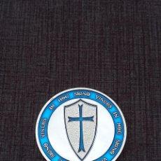 Medallas temáticas: MONEDA PLATEADA CABALLEROS TEMPLARIOS. Lote 108415883