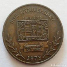 Medallas temáticas: MEDALLA CONMEMORATIVA CORREO POSTAL 1973 US PARCEL POST 60 AÑOS SERVICIO POSTAL DE U.S.A.. Lote 108822851