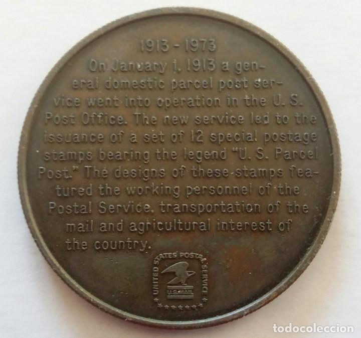Medallas temáticas: Medalla Conmemorativa CORREO POSTAL 1973 Us Parcel Post 60 AÑOS SERVICIO POSTAL DE U.S.A. - Foto 2 - 108822851