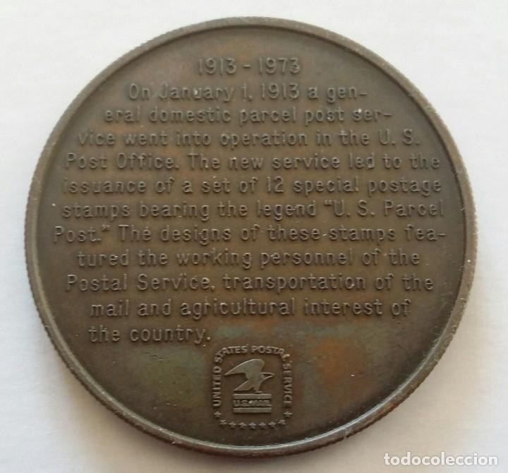 Medallas temáticas: Medalla Conmemorativa CORREO POSTAL 1973 Us Parcel Post 60 AÑOS SERVICIO POSTAL DE U.S.A. - Foto 4 - 108822851