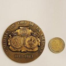 Medallas temáticas: MEDALLA DE ORO DE LA CIUDAD 1883-1983 CIRCULO CATOLICO DE OBREROS DE BURGOS. Lote 109050415