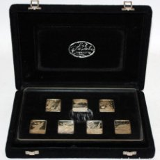Medallas temáticas: DALI - LOS SIETE DIAS DE LA CREACION 7 MEDALLAS EN PLATA +7 GRABADOS EN ESTUCHE. CERTIFICADO. Lote 109412327