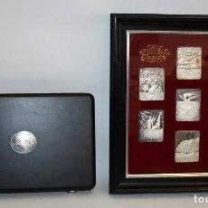 Medallas temáticas: LOS SIETE DIAS DE LA CREACION DE DALI. 7 MEDALLAS EN PLATA AÑO 1979. EDICION LIMITADA A 2000 EJEMP.. Lote 109413355