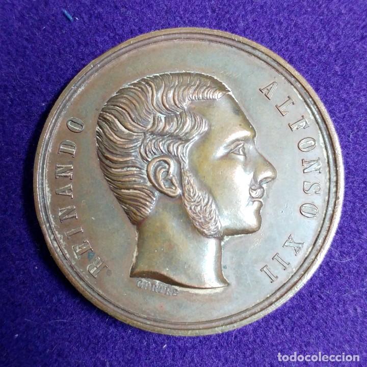 Medallas temáticas: ANTIGUA MEDALLA REINANDO ALFONSO XII. 1877. MENCION. EXPOSICION NACIONAL VINICOLA. - Foto 2 - 109467507