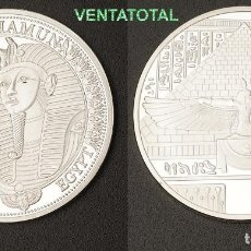 Medallas temáticas: MEDALLA PLATA TIPO MONEDA HOMENAJE A TUTANKAMON REY FARAON DEL ANTIGUO EGIPTO - PESA 28,25 GRA - Nº6. Lote 110421699
