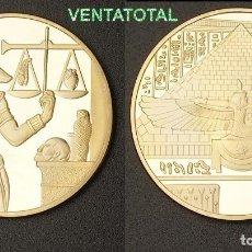 Medallas temáticas: MEDALLA ORO TIPO MONEDA HOMENAJE A ANUBIS DIOS DE LA MUERTE DEL ANTIGUO EGIPTO - PESA 28,20 GRA -Nº1. Lote 110422339
