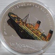 Medallas temáticas: BONITA MONEDA DE 70 MM CONMEMORATIVA A 100 AÑOS DEL HUNDIMIENTO DEL TITANIC EDICION MUY LIMITADA. Lote 224533176