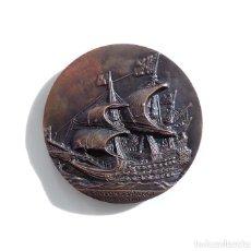 Medallas temáticas: ANTIGUO MEDALLA IV SALON NAUTICO DE BARCELONA AÑO 1966 GALEON ESPAÑOL SIGLO XVII. Lote 110626835