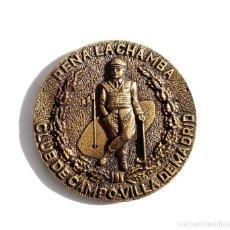 Medallas temáticas: PEÑA LA CHAMBA - CLUB DE CAMPO - VILLA DE MADRID - GOLF. Lote 110627167