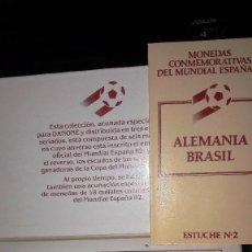 Medallas temáticas: MONEDAS CONMEMORATIVAS DEL MUNDIAL ESPAÑA-82 - ESTUCHE Nº2 - ALEMANIA/BRASIL. Lote 110924291