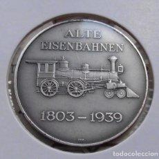 Medallas temáticas: BONITA MONEDA DE PLATA CONMEMORATIVA A LA LOCOMOTORA 2-B ALEMANIA 1900 Y ANTIGUAS DE 1803-1939. Lote 111531967