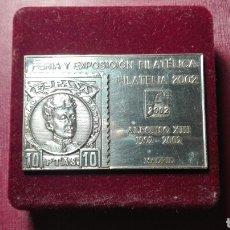 Medallas temáticas: MEDALLA FERIA Y EXPOSICIÓN FILATELIA 2002, MADRID.. Lote 111696155