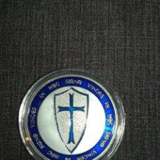 Medallas temáticas: MONEDA PLATEADA CABALLEROS TEMPLARIOS. Lote 218980751
