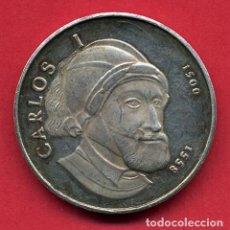 Medallas temáticas: MEDALLA PLATA , CONMEMORATIVA CARLOS I , 1500 1558 , ORIGINAL , B10. Lote 112345523