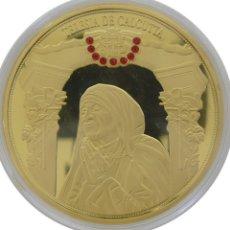 Medallas temáticas: BONITA MONEDA XXL 70 MM MADRE TERESA DE CALCUTA CIUDAD DEL VATICANO EDICION LIMITADA + CERTIFICADO. Lote 174061888
