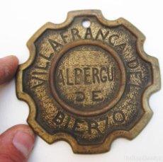 Medallas temáticas: GENIAL GRAN MONEDA TIPO MODELLA BRONCE VILLAFRANCA DEL BIERZO ALBERGUE CAMINO SANTIAGO. Lote 112812999