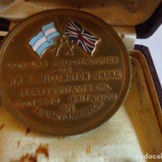 Medallas temáticas: MONEDA CONMEMORATIVA SIE EUGEN MILLINGTON DRAKE. HACIA 1940. ARGENTINA. Lote 112973495