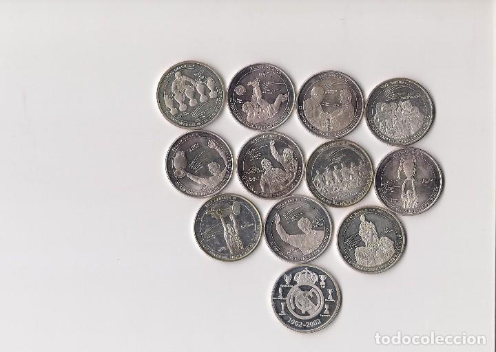 REAL MADRID, SELECCIÓN DE 12 MEDALLAS DIFERENTES DEL EQUIPO (Numismática - Medallería - Temática)