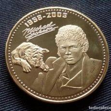 Medalhas temáticas: BELLA MEDALLA CONMEMORATIVA DE MICHAEL JACKSON DE COLECCIÓN - MONEDA CON ORO 24 KT. THE KING OF POP. Lote 114161987