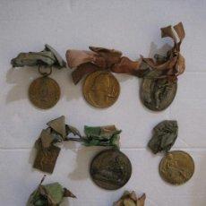 Medallas temáticas: LOTE 8 MEDALLAS ANTIGUAS TEMATICA CORAL -MUSICA -VER FOTOS-(V-13.708). Lote 114209891