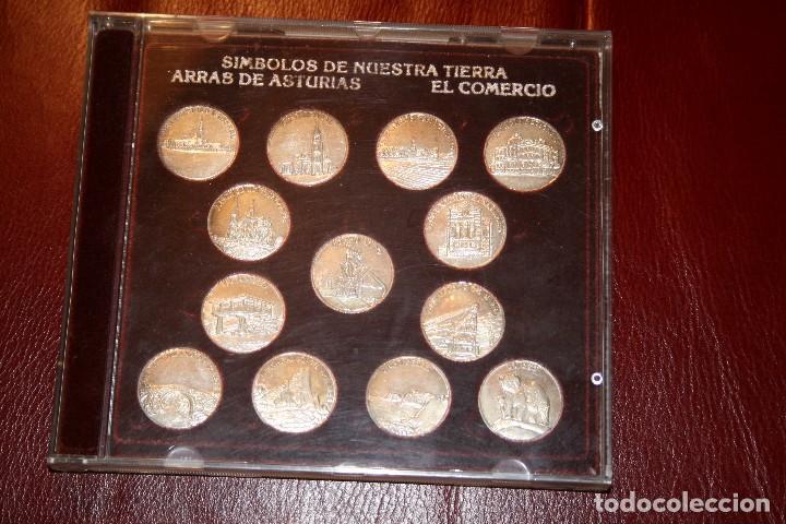 ARRAS DE ASTURIAS. SÍMBOLOS DE NUESTRA TIERRA. EN PLATA DE 1ª LEY. (Numismática - Medallería - Temática)