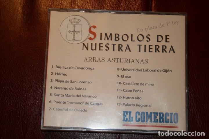 Medallas temáticas: Arras de Asturias. Símbolos de nuestra tierra. En Plata de 1ª Ley. - Foto 2 - 114748619