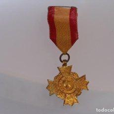 Medallas temáticas: ANTIGUA MEDALLA MILITAR O ESCOLAR PREMIO AL MERITO CON CINTA. Lote 114884995
