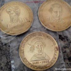 Medallas temáticas: BONITO LOTE DE 3 MONEDAS CONMEMORATIVAS A GRANDES NAVEGANTES DEL MUNDO CRISTOBAL COLON VASCO DE GAMA. Lote 116586395