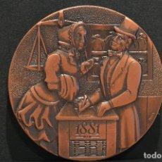 Medallas temáticas: MEDALLA BANC DE SABADELL COMMEMORACIO DEL CENTENARI 1881 1981 EXCELENTE CONSERVACION. Lote 60276495