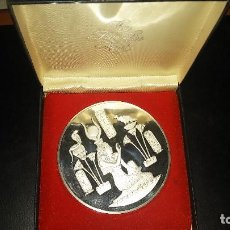 Médailles thématiques: THE FRANKLIN MINT CALENDAR MEDAL/ART 1991 - PLATA ESTERLINA 925 - PESO 295 GR. 76 MM. DIAMETRO. Lote 116804055