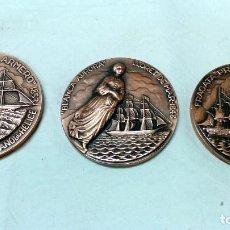 Medallas temáticas: LOTE 3 MEDALLAS BRONCE SALON NAUTICO INTERNACIONAL, BARCELONA. AÑOS 1979, 1980 Y 1981.. Lote 116931643