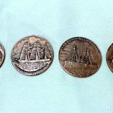 Medallas temáticas: LOTE 4 MEDALLAS BRONCE SALON NAUTICO INTERNACIONAL, BARCELONA. AÑOS 1982 A 1985.. Lote 116931807