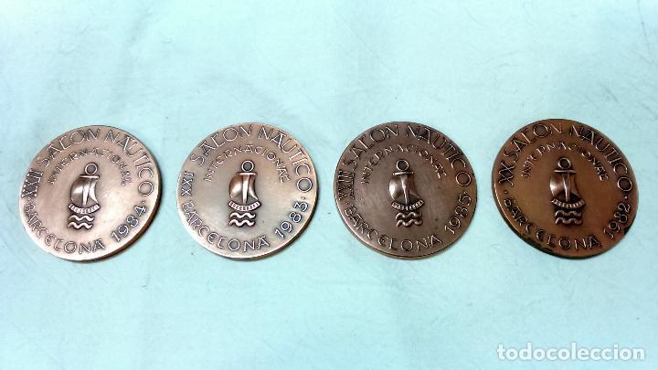 Medallas temáticas: LOTE 4 MEDALLAS BRONCE SALON NAUTICO INTERNACIONAL, BARCELONA. AÑOS 1982 A 1985. - Foto 2 - 116931807