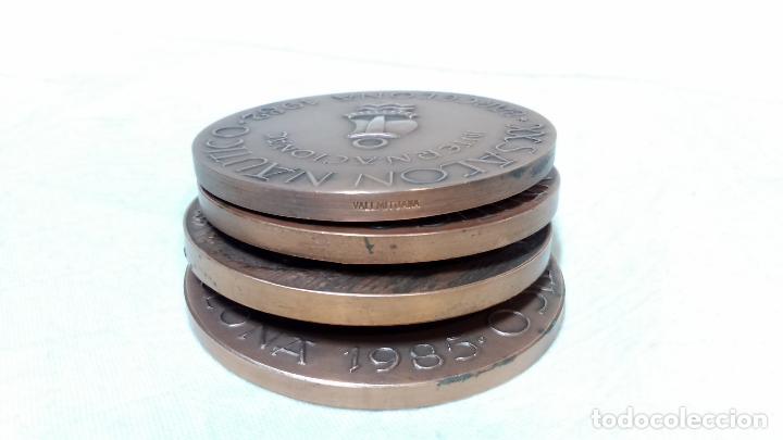 Medallas temáticas: LOTE 4 MEDALLAS BRONCE SALON NAUTICO INTERNACIONAL, BARCELONA. AÑOS 1982 A 1985. - Foto 3 - 116931807