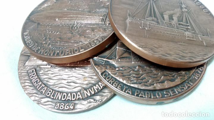Medallas temáticas: LOTE 4 MEDALLAS BRONCE SALON NAUTICO INTERNACIONAL, BARCELONA. AÑOS 1982 A 1985. - Foto 4 - 116931807