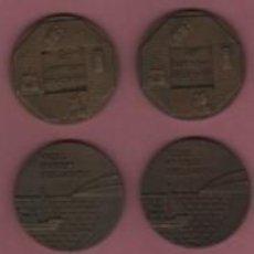 Medallas temáticas: LOTE DE 4 MEDALLAS DE LA CIA. TELEFONICA - 2 DEL 1977 Y 2 DEL 1974 . Lote 117099783