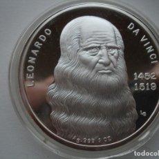 Medallas temáticas: MEDALLA LEONARDO DA VINCI 3 ONZAS PLATA MONA LISA. Lote 118306095