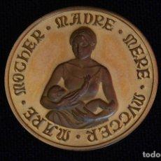 Medallas temáticas: LA MEDALLA DE LA MADRE EN ORO - ACUÑACIONES PARIS. Lote 119241499