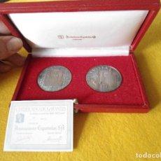 Medallas temáticas: PAREJA DE MONEDAS DE PLATA CONMEMORATIVAS DE SEVILLA. Lote 119523899