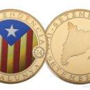Medallas temáticas: MEDALLA CONMEMORATIVA INDEPENDENCIA DE CATALUNYA / 1714-2014 / NUEVA CON CÁPSULA.. Lote 121988606