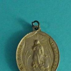 Medallas temáticas: MEDALLA DE ALUMINIO. B.V. MARÍA INMACULADA. SAN LUIS DE GONZAGA R.P.N. FORMATO 4 X 3 CM. Lote 120059435